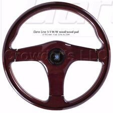 Nardi Steering Wheel - Gara 3/3 W/W - 365mm - Wood with Wood Center Pad