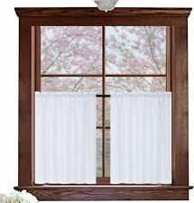 """Window Curtains White 72"""" x 36"""" Waffle Weave Water Repellent Set Of 2 Panels"""