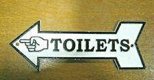 """/""""TEXACO RESTROOM/"""" Cast Iron Dealer/'s Wall Bathroom Plaque Sign 9 1//2/""""  Man Cave"""