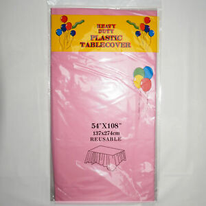 """PLASTIC OBLONG TABLECLOTH (54""""x108"""") - TABLE CLOTHS PARTY - MANY COLOURS!"""