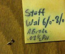 "2 NOS Waltham 6/0 ""A"" Grade Pivot 8-1/2  Balance Staffs"