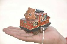 Vintage Wind Up No. 17 Monkey Express Litho Car Tin Toy