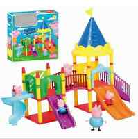 Peppa Pink Pig Playground Children's Slide Play Set With 4 Figures Xmas Kid Gift