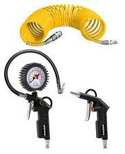 Druckluft-Set 3-tlg Reifenfüller Kompressor-Zubehör Druckluftschlauch Proteco®