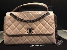 2015 Spring NIB Chanel RARE! LIGHT BEIGE FLAPBAG CC Quilted A90707 Y08986