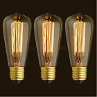 6x 3x 1x  ST64 Edison Vintage 40/60W E26 Light Lamp Bulb Filament Incandescent