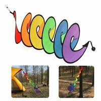 Colorful Camping Tent Foldable Rainbow Spiral Windmill Wind Spinner Garden Decor