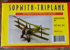 "Dumas Sopwith Triplane 18"" Walnut Scale Rubber Powered Flying Model 241"