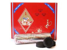AUTHENTIC- 100 Pcs Three 3 Kings Charcoal Hookah 40 mm 10 Roll 100 Piec