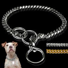 Chain Dog Training Choke Collar Stainless Steel Slip Curb Snake Gold Silver 65cm
