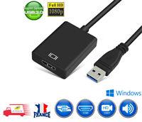 Vidéo Adaptateur USB 3.0 vers HDMI 1080P Câble Convertisseur pour PC Notebook