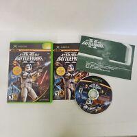 Star Wars Battlefront II 2 Original Microsoft Xbox System Complete Reg. Card