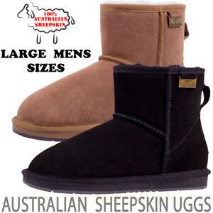 Ugg Boots Classic Mini Australian Sheepskin Uggs Large Mens Sizes 7 8 9 10 11