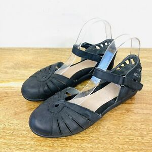 Colorado Womens Mary Jane Sandals Black Leather Size 38 or 7.5