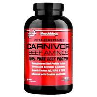 MuscleMeds Carnivor Beef Aminos 300 Tablets, 100% Pure Beef Protein