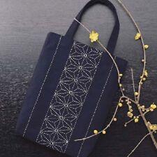 With Trac Japan Embroidery  SASHIKO KIT  MINI BAG 2 ASANOHA with tread &needle