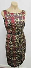 GIAMBATTISTA VALLI Silk Multi-Color Print Sleeveless Sheath Dress - Size 42
