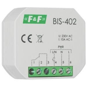 elektronischer Stromstoßschalter Schließer für Unterputz Einbau BIS-402 230V 10A