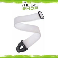 D'Addario Planet Waves White Poly Guitar Strap with Planet Lock Ends - PWSPL208