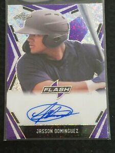 2020 Leaf Flash Baseball Portrait Purple PA-JD1 Jasson Dominguez 21/35
