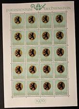 Sello LIECHTENSTEIN Stamp Yvert y Tellier nº483 x20 De Hecho De La Hoja N Y5