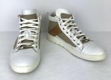 ed1769feafa6a5 Dior Homme White Sneaker Size 9.5 42.5 EU Leather High-Top Tan Fabric Brown