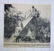 1960 Agnes Riley Playground Clapham Park Kids Having Fun On The Slide