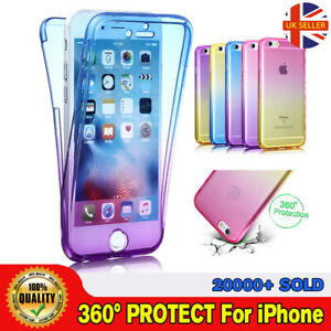 SALE Front and Back Slim Shockproof 360° Full Body Silicon Case Cover For iPhone