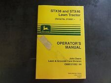 John Deere STX38 and STX46 Lawn Tractor Operator's Manual  OMM121093 H4