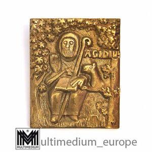 Bronze Plakette Ägidius Egino Weinert