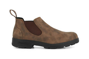Blundstone 2036 Boots Rustic Brown Unisex Style Australian Chelsea Low Shoes