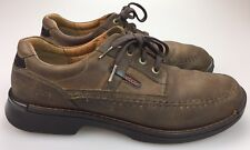 ECCO Men's Brown Leather Fashion Sneakers Shoes Size EU 45 US 11-11.5 Lace Up