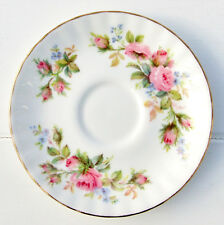 Vintage Royal Albert Moss Rose Bone China Floral 11.5cm Small Coffee Saucer