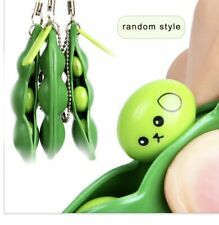 Edamame Pea Pod Keychain Fidget Toys - Squeeze-a-Bean Ships From NEW York