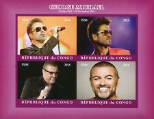 Congo 2018 MNH George Michael 4v IMPF M/S I Celebrities Popstars Music Stamps