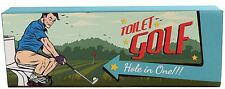 Novelty Toilet Golf Game Putting Green Mat ~ Miniature Golf Set For The Loo