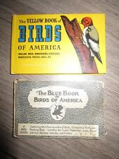 2 vtg The Yellow & Blue Book of Birds of America by Ashbrook, ill Moller, 1941