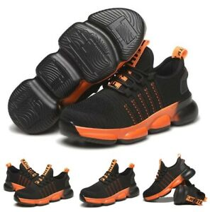 Light Weight Mens Steel Toe Safety Shoes Trainers Work Boots Sports Hiking BNIB