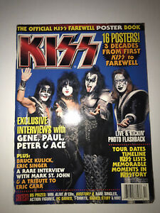 KISS VINTAGE FAREWELL POSTER MAGAZINE.FULL OF THE COOLEST POSTERS EVER BY KISS.