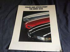 1991 BMW 850i Colors and Upholstries USA Market Brochure Catalog Prospekt