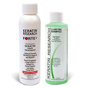 Keratin Research Original FORTE Extra Strength Blowout Keratin Treatment 4oz+4oz