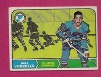 1968-69 TOPPS # 119 BLUES GARY VENERUZZO ROOKIE EX CARD (INV#3549)