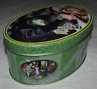 Wizard Of Oz Wicked Witch Oval Shaped Keepsake Tin Box