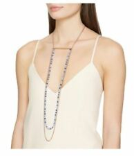 Mimco Trance Necklace Mist Blue & Rose Gold S and Pouch
