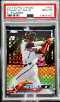 2018 Topps Chrome Ronald Acuna Jr RC XFractor Atlanta Braves  PSA 10 Gem Mint