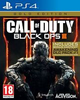 NEW & SEALED! Call of Duty Black Ops 3 Gold Edition Sony Playstation 4 PS4 Game