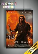 Braveheart Mel Gibson Classic 90s Movie Poster