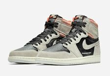 Jordan 1 Retro High Neutral Grey Hyper Crimson (555088-018) (Size UK 4.5-11)