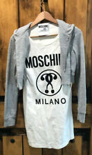 Moschino Milano Couture Small White And Gray Dress
