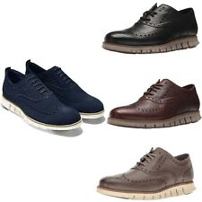 Cole Haan Men Dress Formal Casual Shoes Zerogrand Wingtip Leather Oxford Shoes